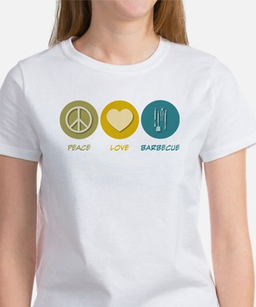 Peace Love Barbecue Women's T-Shirt