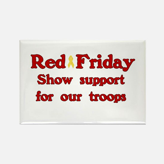 Red Friday Rectangle Magnet