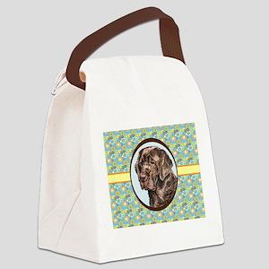 Chocolate Labrador Retriever Retr Canvas Lunch Bag