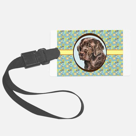 Chocolate Labrador Retriever Ret Luggage Tag