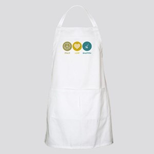 Peace Love Bagpipes BBQ Apron