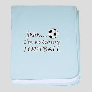 Football fan baby blanket