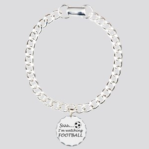 Football fan Charm Bracelet, One Charm