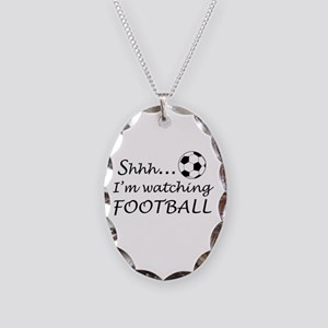 Football fan Necklace Oval Charm