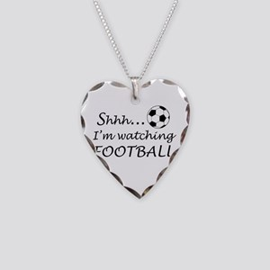 Football fan Necklace Heart Charm