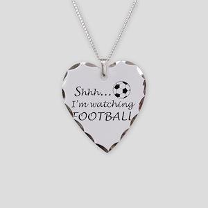 Football fan Necklace Heart Charm
