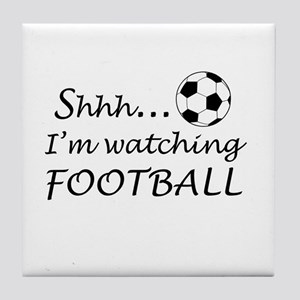 Football fan Tile Coaster