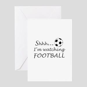 Football fan Greeting Cards