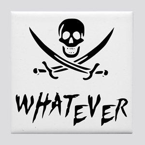 Whatever Pirate Tile Coaster