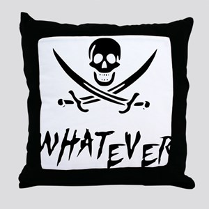 Whatever Pirate Throw Pillow