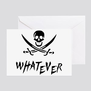 Whatever Pirate Greeting Card