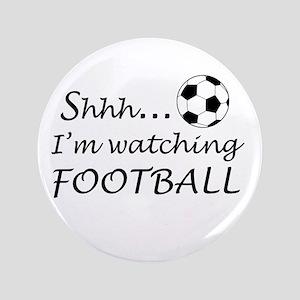 """Football fan 3.5"""" Button"""