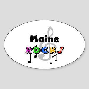 Maine Rocks Oval Sticker