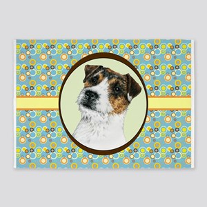 Jack Russell Terrier JRT Retro 5'x7'Area Rug