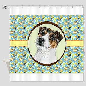 Jack Russell Terrier JRT Retro Shower Curtain