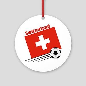 Switzerland Soccer Team Ornament (Round)