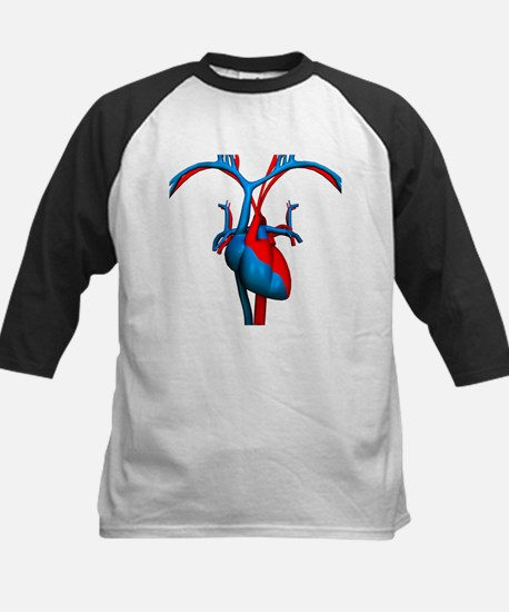 Heart and blood vessels, artwork - Baseball Jersey