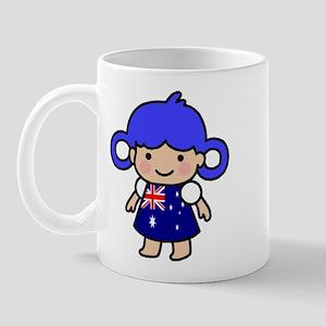 Austrailian Flag Girl Mug