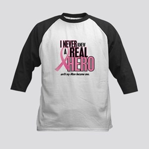Never Knew A Hero 2 (Mom) Kids Baseball Jersey