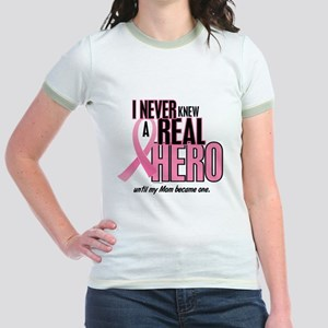 Never Knew A Hero 2 (Mom) Jr. Ringer T-Shirt