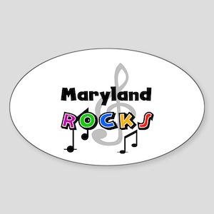 Maryland Rocks Oval Sticker
