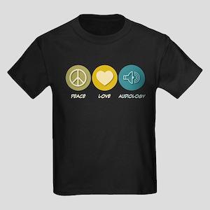 Peace Love Audiology Kids Dark T-Shirt