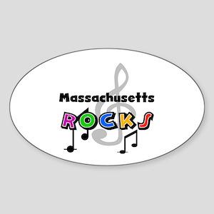 Massachusetts Rocks Oval Sticker