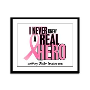 Never Knew A Hero 2 (Sister) Framed Panel Print