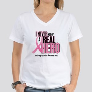 Never Knew A Hero 2 (Sister) Women's V-Neck T-Shir