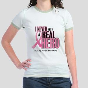Never Knew A Hero 2 (Sister) Jr. Ringer T-Shirt
