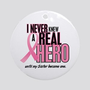 Never Knew A Hero 2 (Sister) Ornament (Round)