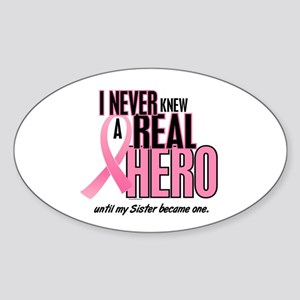 Never Knew A Hero 2 (Sister) Oval Sticker