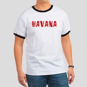 Havana Faded (Red) Ringer T