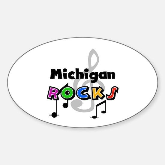 Michigan Rocks Oval Decal