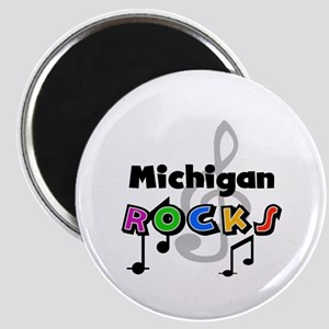 Michigan Rocks Magnet