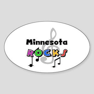 Minnesota Rocks Oval Sticker