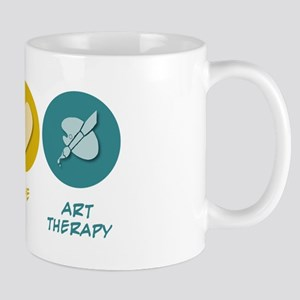 Peace Love Art Therapy Mug