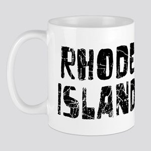 Rhode Island Faded (Black) Mug