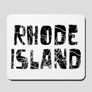 Rhode Island Faded (Black) Mousepad
