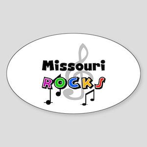 Missouri Rocks Oval Sticker