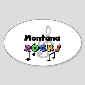 Montana Rocks Oval Sticker