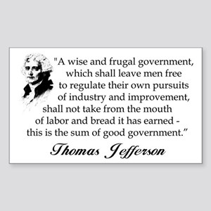 """Thomas Jefferson"" Sticker (Bumper)"