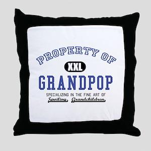 Property of Grandpop Throw Pillow