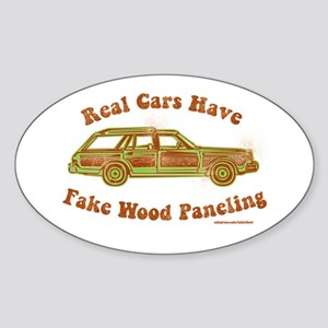 Fake wood paneling Sticker