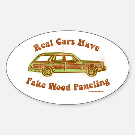 Fake wood paneling Decal