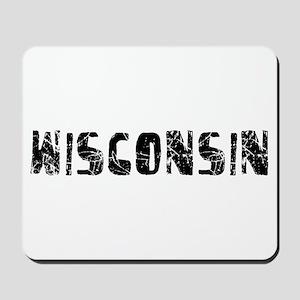 Wisconsin Faded (Black) Mousepad