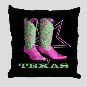 Texas Boots! Throw Pillow