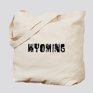 Wyoming Faded (Black) Tote Bag