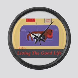 Living The Good Life Large Wall Clock