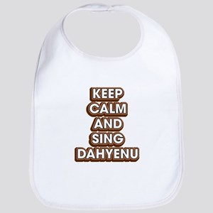 Keep Calm And Sing Dahyenu - Funny Passov Baby Bib